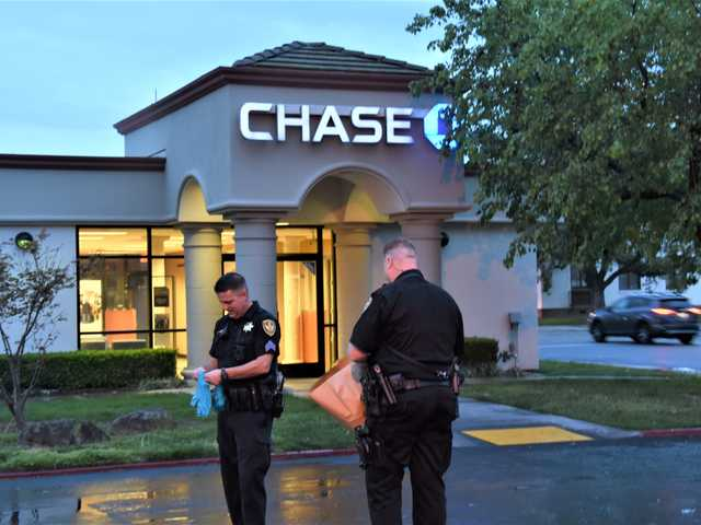 California 03132018 - Suspicious package left at Chase Bank branch