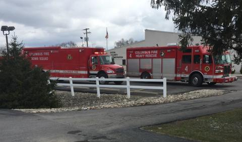 Ohio 03092018 - Two people were under medical evaluation after liquid was found in a suspicious letter.