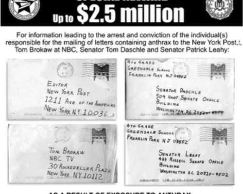 Dangerous Mail Threat History 10 - Anthrax 2001 USA thumb.