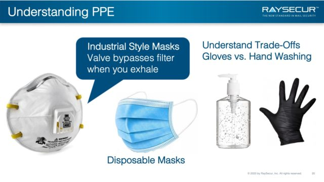 Understanding PPE in the Mailroom.