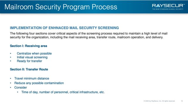 Mail Security Risk Assessment SOP Planning 15 - Enhanced Mail Screening Implementation.