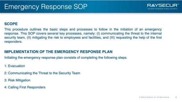 Mail Security Risk Assessment SOP Planning 26 - Mail Security ERP Scope.