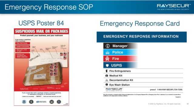 Mail Security Risk Assessment SOP Planning 28 - Mail Security ERP Resources.