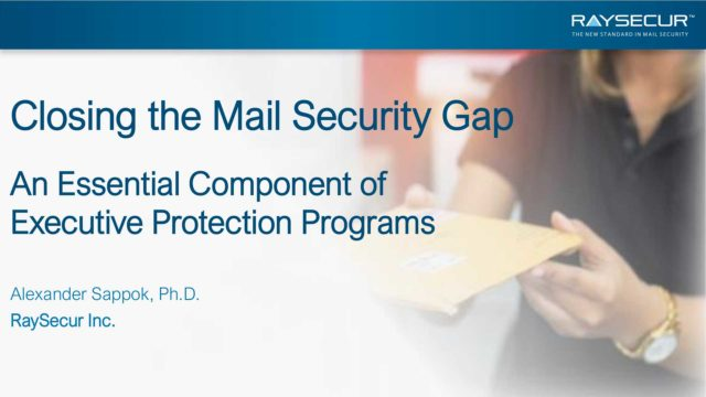 Mail Security in Executive Protection: Alex Sappok, Ph.D #1.