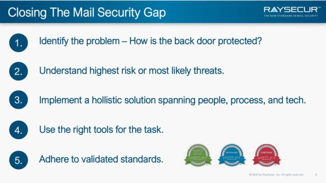 Mail Security in Executive Protection: Alex Sappok, Ph.D #9.