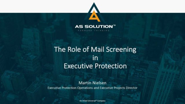Mail Security in Executive Protection: Martin Nielsen 1.