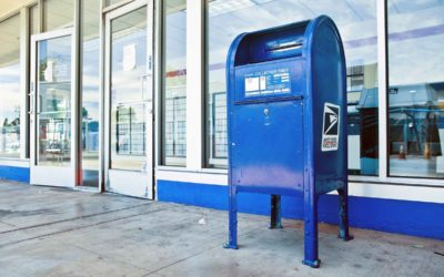USPS Blue Mail Boxes.